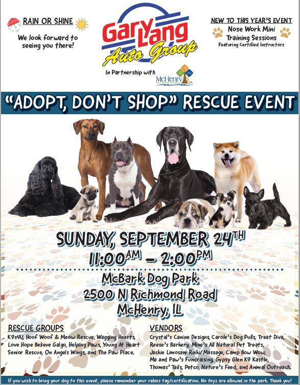 2581ca00 Adopt, Don't Shop, Rescue Event | Helping Paws Animal Shelter